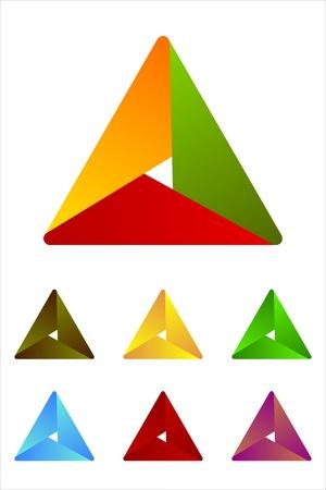 Design triangle logo element  Infinite cross ribbon vector design icon template   Illustration