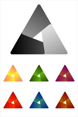 convergence: Design triangle logo element  Infinite cross ribbon vector design icon template   Illustration