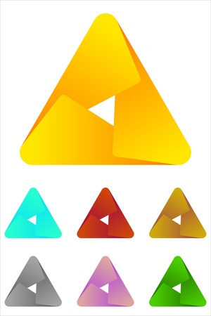 Design triangle logo element  Infinite cross ribbon design icon template   Illustration