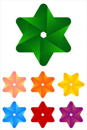 Design star logo element  Infinite cross ribbon design icon template   Illustration
