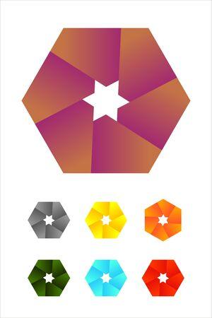 Design hexagonal logo element  Infinite cross ribbon vector design icon template   Illustration