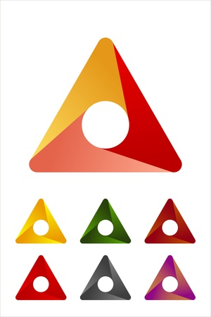 Design triangle logo element  Infinite cross ribbon vector icon template   Illustration