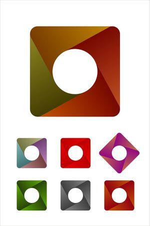 Design rounded logo rectangle element  Infinite cross ribbon design icon template