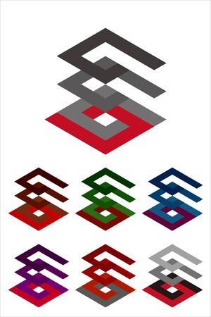 Design vector logo template  Icon set  You can use in the buildings, apartments, real estate and other three-dimensional concept of pattern