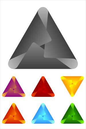 Vector triangle logo element  Paper cross icon template