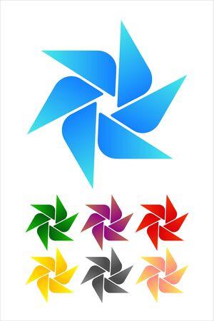 Design windmill logo element  Infinite cross ribbon vector icon template