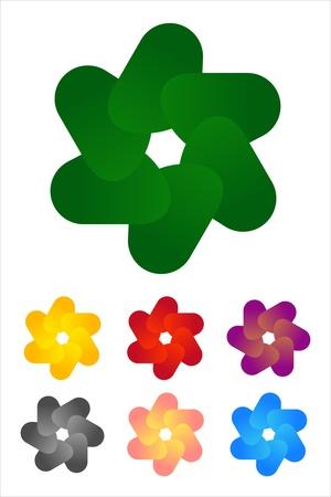 Design fan logo element  Infinite cross ribbon vector icon template