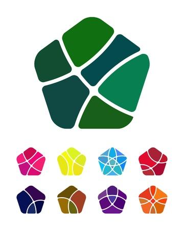각형 요소 벡터 디자인 아이콘 템플릿 디자인