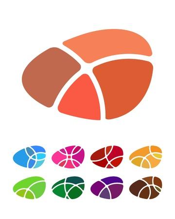 설정 라운드 패턴 다채로운 아이콘을 분쇄 추상 라운드 로고 요소를 디자인 일러스트