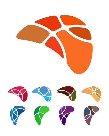 crushing: Design abstract wing logo element  Crushing vector wing pattern  Colorful icons set