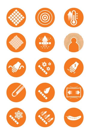 filtration: Description icons of clothes  orange