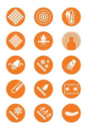 breathable: Descrizione icone di abiti arancione