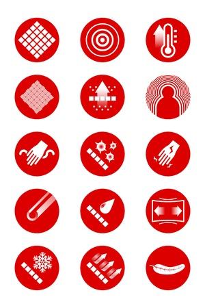 filtración: Descripción de los iconos de la ropa roja