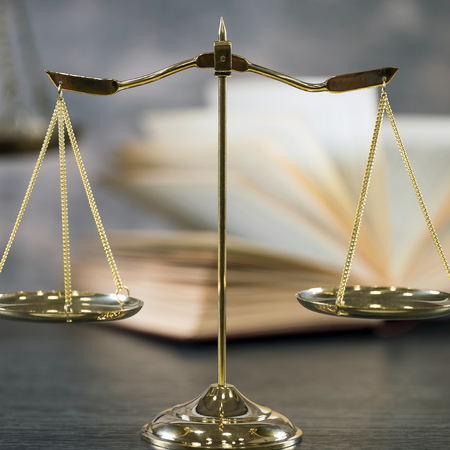 Symbols for balance and power in law and court, focus only, narrow depth of field