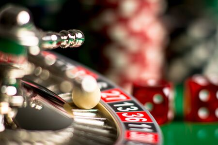 high contrast image of casino
