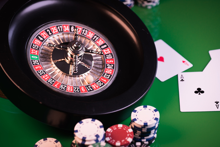 casino image of roulette and chips