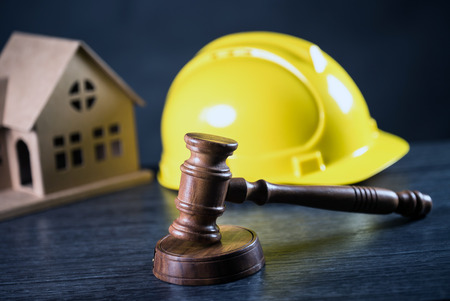 Law Concept. Judges gavel construction