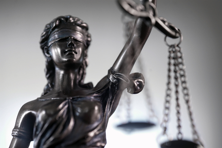 Law and Justice symbols on bright background