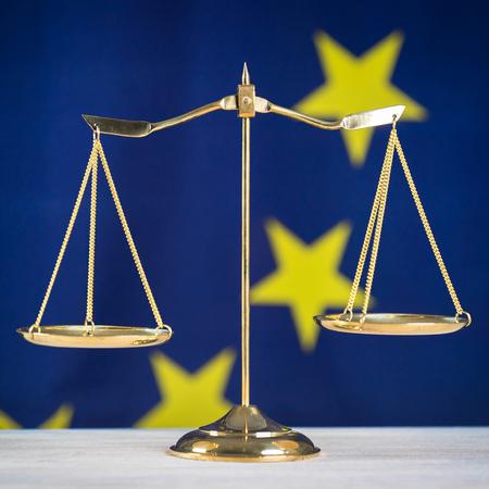 Law Concept. EU flag