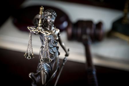 Law symbols, Lawyers office. Themis