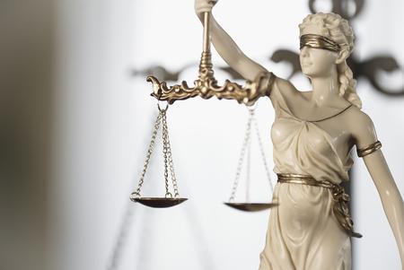 Símbolos de derecho, oficina de abogados. Themis