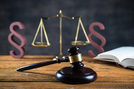 Law symbols, Lawyers office.