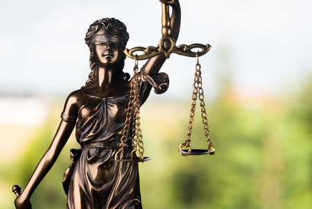 Legal system. Law and justice concept. Mallet, legal code and scales of justice. 스톡 콘텐츠