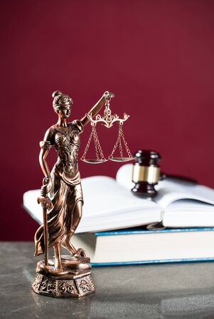 justice and law concept. Stock Photo
