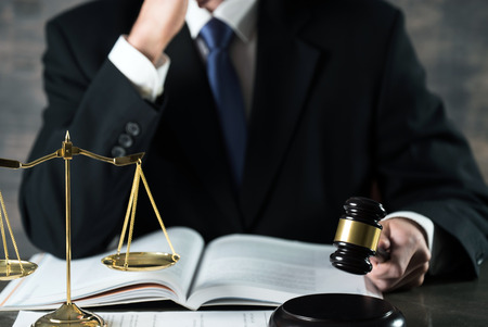 Male Lawer concept, legal office