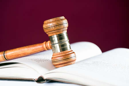 wooden gavel. law concept image