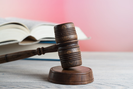 Law, lawyer, book. Stock Photo