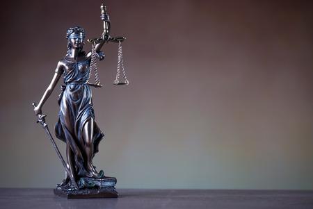 Justice statue. Stock Photo
