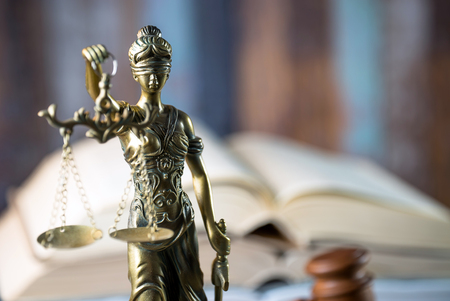 Themis in the Lawyer Office Stock Photo