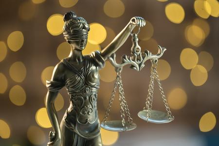 Law symbols. Court theme Banco de Imagens