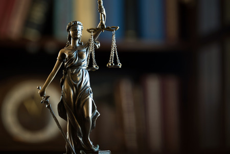 Law and Justice. Lady Justice Stock Photo