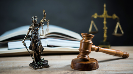 Justice law legal concept. Stock Photo