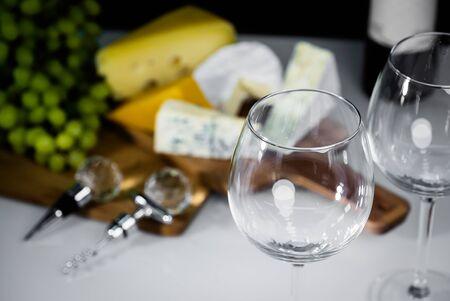 Wine glass close-up Фото со стока