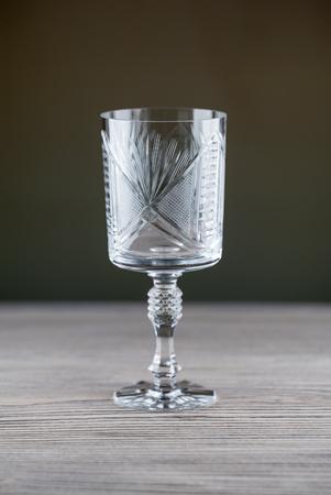 empty crystal wine glass