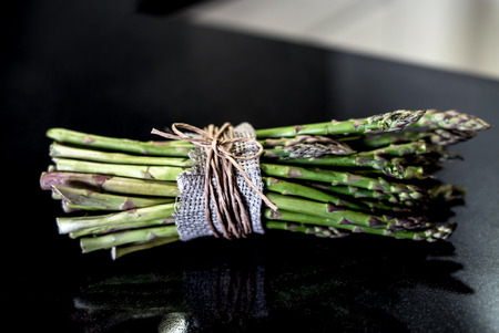 asparagus on black stone