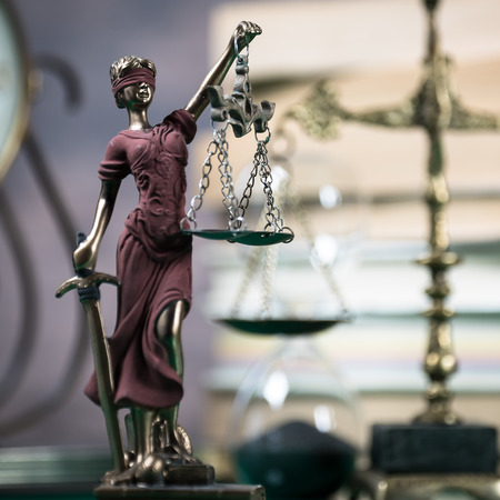 Law concept with symbol, justice.