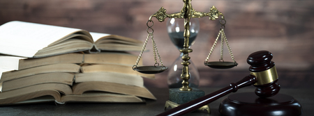 Law and Justice theme. Gavel of the Judge