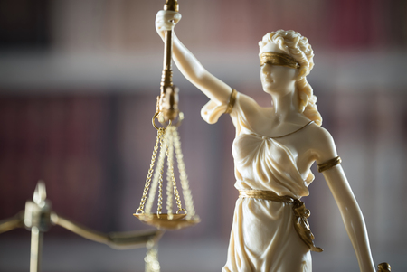 Legal office of lawyer. legal model of the goddess of justice Stock Photo