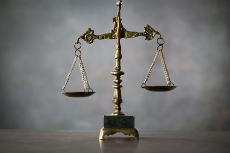 Scale of Justice. Law concept Stock Photo