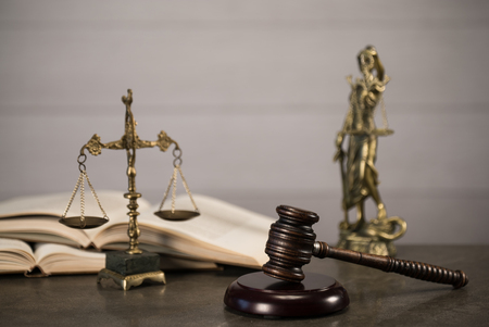 Law and Justice theme. Standard-Bild