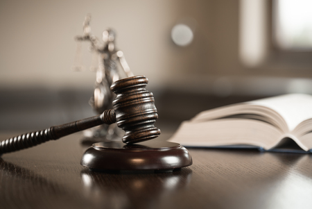 Law and Justice concept image Stockfoto
