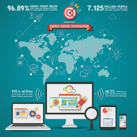 optimization: SEO Search engine optimization worldwide Infographics
