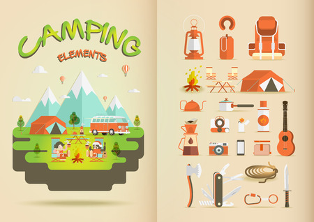 camping tent: Camping Elements