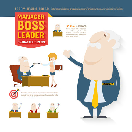 character design: Manager, Boss, Leader, Character Design