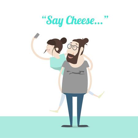 say: Say Cheese Illustration