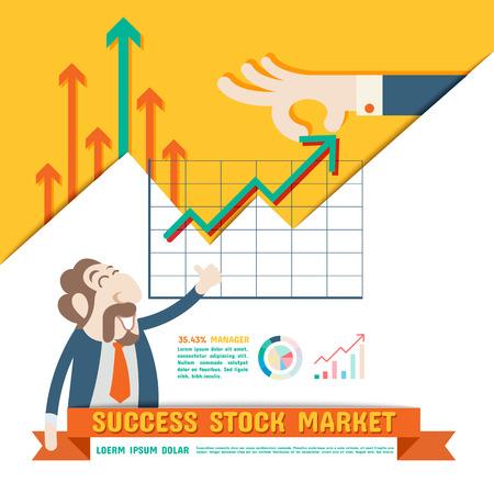 stock vector: Success Stock Market Illustration